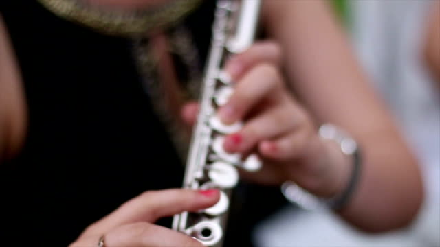 Flute playing