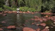 Fly Fisherman River Casting, Nahaufnahme