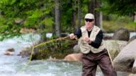 Fliegenfischen im Mountain River