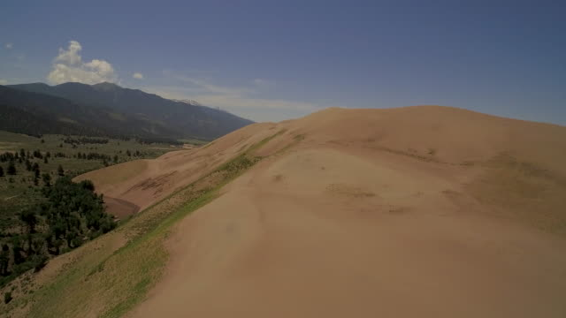 Fly over Great Sand Dunes, gaining altitude.