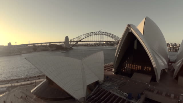 Fly past Opera House sails