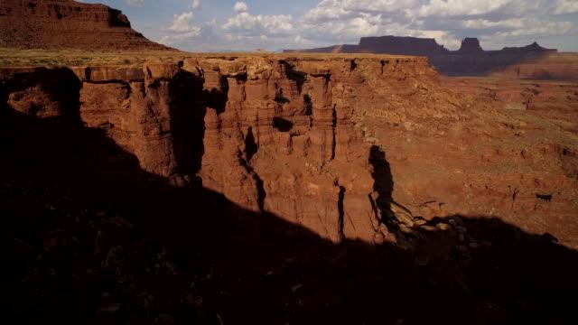 Fly through towering rock formations at Cannyonlands National Park Utah