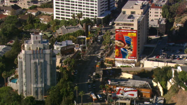 Flying above Sunset Boulevard in Hollywood. Shot in 2008.