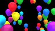Flying colour balloons HD 1080p