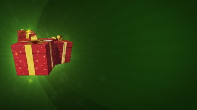 Flying gifts on a christmas background