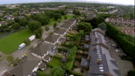 flying low over housing estate in Ireland