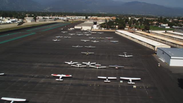 Flying over airplanes at El Monte Airport in El Monte, California. Shot in 2010.