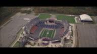 AERIAL Flying over Gillette Stadium / Boston, Massachusetts, United States