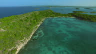 Flying Over Great Bird Island Antigua