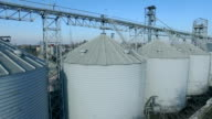 Flying over silo storage