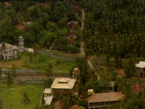 Flying over the city of Galle six months on from the Indian Ocean Tsunami