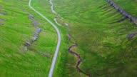 flying over the faroean roads - Faroe island