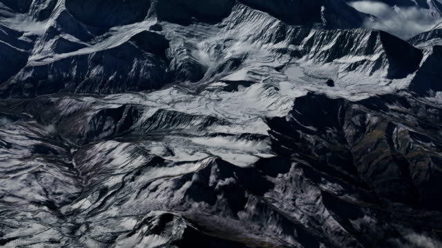 Flying over the Himalayas.