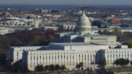 Flying past the Capitol, Rayburn House Office Building in foreground. Shot in 2011.