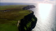 Flying Round Peninsular At Old Watch Tower  - Aerial View - Munster, Co Clare, Ireland