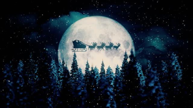 Flying Santa Claus on Christmas Night