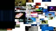Fliegen durch Video Wall-Matrix