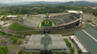 MS AERIAL Flyover University of Oregon Autzen Stadium / Oregon, United States