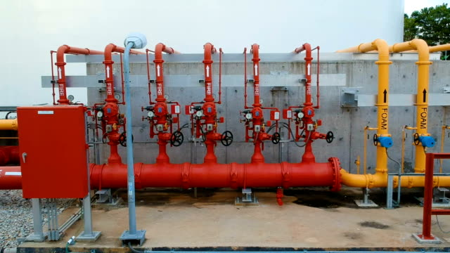 Foam and water for fire protection system in powerplant