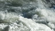 Foaming White Water Close-up