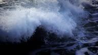 Foamy surf, slow motion