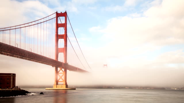 Fog Covering the Golden Gate Bridge