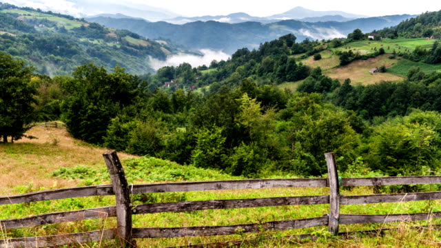 Fog over hills