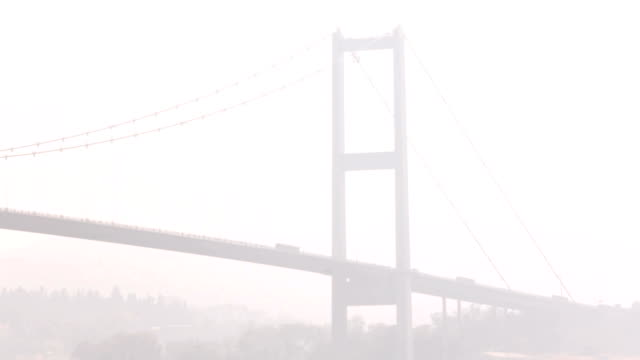 foggy bosphorus bridge