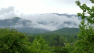 Foggy clouds drift Great Smoky Mountains National Park Tennessee