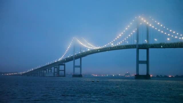 Foggy Night in Newport