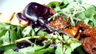 Foie gras with vegetable salad