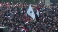 Followers of the Iraqi Shia cleric and politician Muqtada alSadr held a huge protest at Tahrir Square in Baghdad Iraq on March 24 2017 Muqtada alSadr...