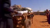 Food aid supplies arriving in Baidoa Somalia