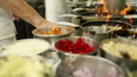 MS Food being prepared at the restaurant kitchen / Sao Paulo, Brazil