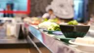 Food on conveyor belt