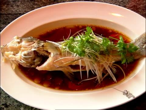 MS food presented in dish, Bangkok, Thailand