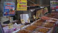 Lebensmittelverarbeitung im Tsukiji Fish Market