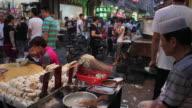 WS Food stalls in night market/xian,shaanxi,China