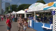 WGN Food Stands At Taste Of Chicago on July 11 2013 in Chicago Illinois