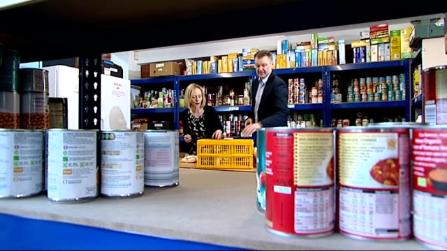 Foodbanks struggling to cope with sharp rise in demand Macclesfield what kind of changes are you seeing Theresa Hayton interview SOT increasingly...