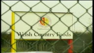 health inspection at Welsh Country Foods WALES Anglesey EXT Isle of Anglesey County Council notice to keep out PULL OUT / Welsh Country Foods sign...