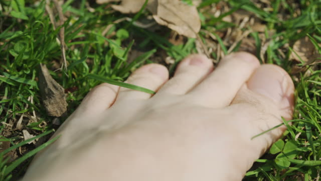 Foot relaxing in Central Park New York City Manhattan