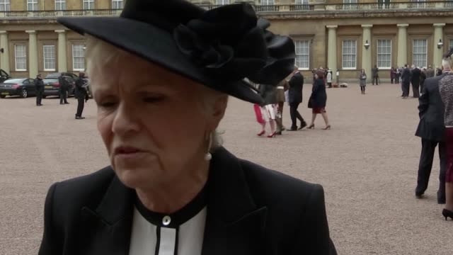 Footage and interviews with Dame Julie Walters who was awarded a Damehood Helen McCrory who was awarded an OBE and Squadron Leader George 'Johnny'...