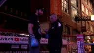 Footage from Hughie Fury's public work as e prepares to challenge Joseph Parker WBO heavyweight championship at the Manchester Arena Includes shots...