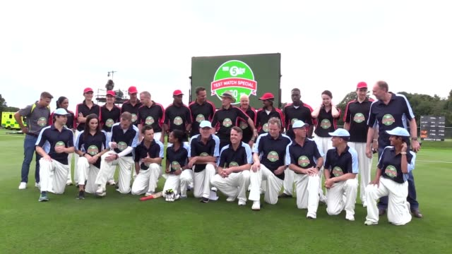 Footage from the TMS 60 cricket match at Weetwood Sports Ground Leeds Players include Yohan Blake Marcel Somerville Jamie Laing and Naga Munchetty...