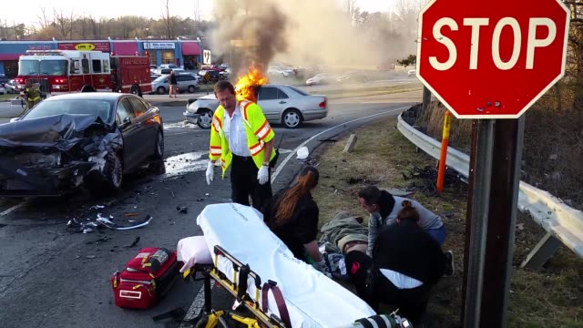 Footage of a fatal auto accident on University Parkway in Winston Salem North Carolina