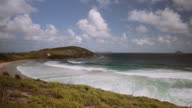 4K footage of an empty beach and landscape, in Wilson Promontory, Victoria, Australia