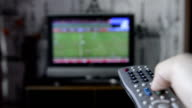 CNGLTEC40 Footage of channel surfing on TV