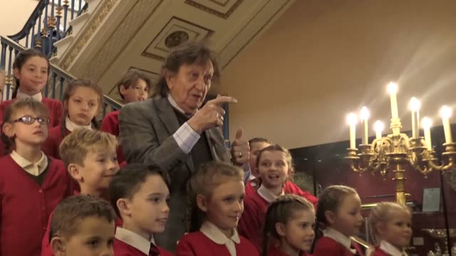 Footage of comedian Sir Ken Dodd at a civic afternoon tea to mark his 90th birthday followed by an interview He is greeted by children from Knotty...