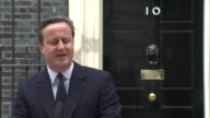 Footage of David Cameron outside Number 10 urging people to Remain rather than Leave the EU